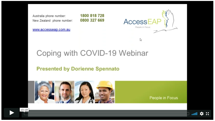 Coping with COVID 19 Webinar